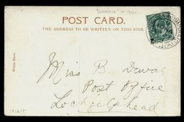 """GB 1904 """"GREENOCK-IONA PACKET"""" POSTCARD - BELLMOUTH - Postmark Collection"""