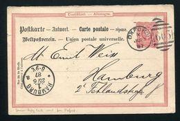 GERMANY STATIONERY GANZSACHEN POSTCARD 1887 - Germany
