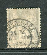 Superbe N° 87 Cachet De La Gare De Rouen ( 1934 ) - 1876-1898 Sage (Type II)