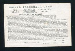 GB STATIONERY VICTORIA POSTAL TELEGRAPH CARD - 1840-1901 (Victoria)