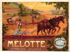 1 Card Publ.Mélotte Gembloux  Gembloers Gemblours  Belgique Fabrique De Charrues  Cheval De Trait Trekpaard C1910 - België