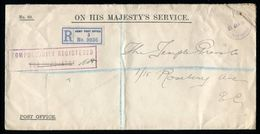 GB 1916 OHMS REGISTERED STATIONERY ARMY WITH RARE CACHET - Postmark Collection