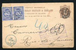 GB BRAZIL STATIONERY POSTAGE DUES 1890 POSTAL MARKINGS - Postmark Collection