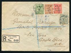 MALTA REGISTERED KG5 TO COSTA RICA FROM POLICE MAJOR - Malta (...-1964)