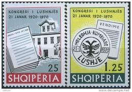 ALBANIA 1970, 50 Years Since The CONGRESS In LUSHNJA, COMPLETE, MNH SET, GOOD QUALITY, *** - Albania