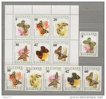 Bulgaria Mint (**) 1990 Set Stamp Block BF Fauna Butterfly Entomology Insect 6.70 EU - Bulgarije