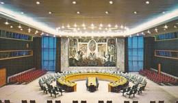 NACIONES UNIDAS/UNITED NATIONS/NATIONS UNIES. SECURITY COUNCIL CHAMBER. CIRCA 1970S. USA/EEUU  - BLEUP - New York City