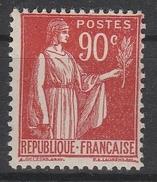 285** 90c ROUGE PAIX - 1932-39 Frieden