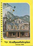 Postamt Oberammergau - Kraftpost Fahrplan Sommer 1960 36 Seiten Mit Vielen Abbildungen Und Postautoverbindungen - Europe