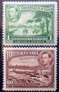 BRITISH GUIANA 1938 1c,60c King George VI MLH Scott230,237 CV$12 - Guyane Britannique (...-1966)