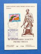 Cartolina Commemorativa - Centenario Nascita Pietro Micca - 1977 - Cartoline