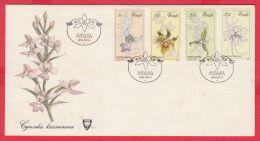 118201 /  VENDA FDC 1981 - ( Elephant ) ,  FLOWERS Orchids  Cynorkis Kassneran Bonatea Densiflora - Venda