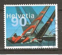 Zu 1084 / Mi 1831 / YT 1756 Sport Voile Amerika's Cup ALINGHI Obl. 1er Jour SBK 4,20 - Used Stamps