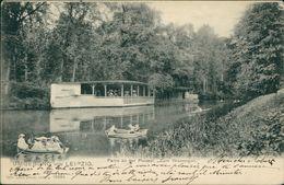 AK Rudern, Rowing, Aviron, Leipzig, Partie An Der Pleisse, Zum Wassergott, O 1905 (25160) - Rudersport