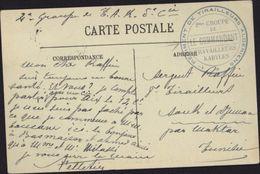 Sur CPA Blida Eglise Cachet Bleu 1er Régiment Tirailleurs Algériens 2me Groupe De Travailleurs Kabyles Le Commandant FM - Algeria (1924-1962)
