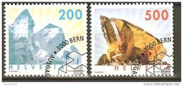Zu 1065-1066 / Mi 1808-1809 / YT 1732-1733 Minéraux Obl. 1er Jour - Switzerland