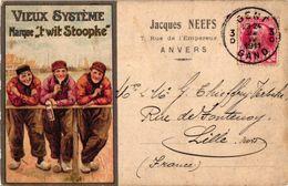 1 PC Publ. Vieux Système 't Wit Stoopke Jaques Neefs Antwerpen Anno 1911   Reklame RECLAME Jenever Genever - Antwerpen