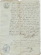 Sem, Vicdessos ,2 Docs, Certificat D'indigence,maire, Lanes, Abandon De Domicile, Galy, Préfet De Foix,an 13, Impôts - Documents Historiques