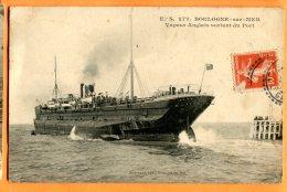 ALB564, Bateau à Vapeur Anglais Sortant Du Port à Boulogne-sur-Mer, France, 272,  Circulée 1911 - Non Classificati