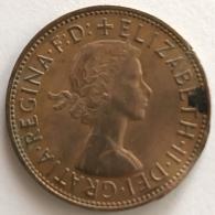 Pièce De Monnaie. Angleterre. Elisabeth II. 1 Penny. 1966 - Monnaies