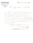 FRANCE. Lettre De 1856. Victor Dubosq & Bard : Commissionnaires En Peaux à Paris. - Textile & Vestimentaire