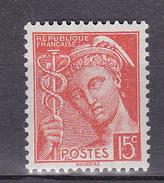 N° 408Type Mercure 15c Orange Timbre Neuf Impeccable Sans Charnière - 1938-42 Mercurius