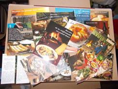 LOT DE 20 CARTES RECETTE LIMOUSIN AUVERGNE Cantal Aligot Potée Chou Fouace Pounti Truite Bourriol Truffade Cepes Soupe - Recipes (cooking)