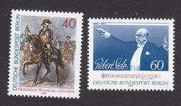 Germany, Berlin, Scott #9N455-9N456, Mint Never Hinged, Von Steuben Leading Troops, Stolz, Issued 1980 - [5] Berlin