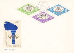 FDC - ROMANIE 1964 - Jeux Olympiques De TOKYO - Série De  Enveloppes De 16 Timbres - FDC