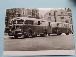 TRAMBUS Mit Anhänger Baujahr 1948/49 Type 5000 T ( Fotokaart ) ( Zie Foto Voor Details ) ! - Bus & Autocars