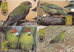 Norfolk, Birds, WWF, 1987 4 Maximum Cards - Maximumkaarten