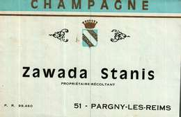 Etiquette    Champagne  Zawada Stanis  à  Pargny-les-Reims - Champagne