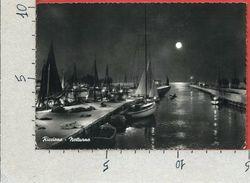 CARTOLINA VG ITALIA - RICCIONE (RN) - Porto Canale Notturno - 10 X 15 - ANN. 195? - Rimini