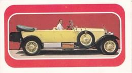 Calendrier 1977 Automobile, Traction , Rolls Royce Phantom De 1928 (au Dos Publicité Le Mans Sarthe Bonvoust Papeterie) - Calendars