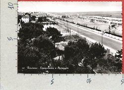CARTOLINA VG ITALIA - RICCIONE (RN) - Lungomare E Spiaggia - 10 X 15 - ANN. 195? - Rimini