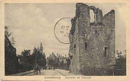 -ref  V805- Luxembourg - Luxemburg - Descente De Clausen /-timbre Arraché Du Verso De La Carte - - Unclassified