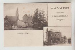 CPA GUER COETQUIDAN (Morbihan) - SAINT RAOUL COETQUIDAN 2 Vues L'Eglise Maison HAVARD Photographe - Guer Coetquidan