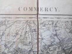 Commercy -  Meuse - Carte D'état - Major Toilée - 1835 - 1884 - TBE - - Cartes Topographiques
