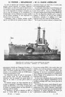 """LE PREMIER  """" DREADNOUGHT """" De La MARINE AMERICAINE  1909 - Transportation"""