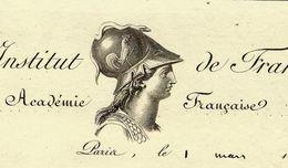 1823 LES IMMORTELS ACADEMIE FRANCAISE INSTITUT DE FRANCE SIGNATURE François Just Marie Raynouard VOIR SCANS - Documents Historiques