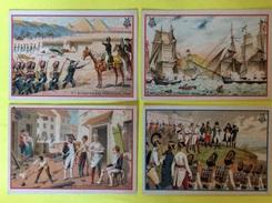 Napoleon , Empereur , Campagnes , Souverain , Lot De 7 Chromos Très Sympa à Voir De Suite , Avec Texte Au Dos - Chromos