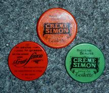 """MIROIRS DE POCHE  (x 3)  : """"  CREME SIMON """" - Autres"""