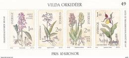 Schweden, 1982, Mi. Nr. 1205/08 Block 10, Wilde Orchideen,  MNH ** - Blocks & Sheetlets