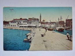 PIRANO ISTRIA Porto Barca Pescatori Molo Slovenia Slovenija AK Vecchia Cartolina 4054 - Slovenia