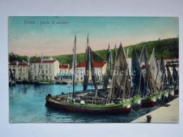 PIRANO ISTRIA Barche Di Pescatori Slovenia Slovenija AK Vecchia Cartolina 37017 - Slovenia