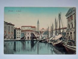 PIRANO ISTRIA Il Porto Barca Vela Slovenia Slovenija AK Vecchia Cartolina 4834 - Slovenia