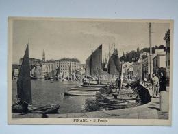 PIRANO ISTRIA Il Porto Barca Animata Slovenia Slovenija AK Vecchia Cartolina Bartolomei - Slovenia