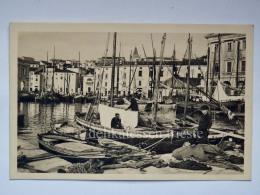 PIRANO ISTRIA Porto Barche Pescatore Reti Slovenia Slovenija AK Vecchia Cartolina 22504 Bis - Slovenia