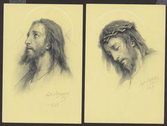 Série D'images - Les XIV Stations De Jésus D'Hippolyte Lazerges (Repros éditeur Quinault) - Voir 2 Scans - Religion & Esotérisme
