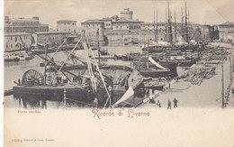 Livorno - Porto Vecchio Con Barche Incidentate - 1900    (A-48-120212) - Livorno